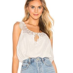 Free People Women's Clover Croft Tank crochet cami